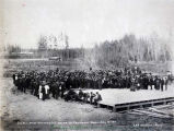 Golden Spike ceremonies at Fairbanks, Alaska, July 17, 1905.
