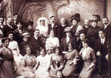 John Alexander Stuart and wedding party.
