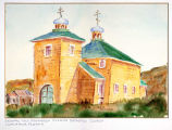 Original Holy Ascension Russian Orthodox Church, Unalaska, Alaska.