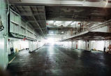 Alaska ferry Wickersham empty car deck.