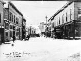Front Street Juneau circa 1900  [in snow].
