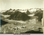 Alaska Aerial Survey Expedition,  1929; Planes in flight over Twin Glacier,  Taku River.