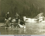 Alaska Aerial Survey Expedition,  1929;  Fishing on Hasselborg Lake.