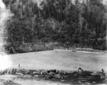Juneau Recreation Park. 6-8-14 [overall view of a baseball game in Last Chance Basin, 1914].