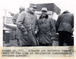Schwamm and Gov.  Thomas E. Dewey of New York at dedication ceremonies of Kotzebue Airport, August...