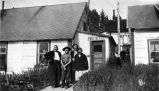 [Seldovia, Alaska.  Minnie Jones, Fanny Hayes, Jackie Mihill and Goldie standing outside Post...