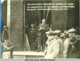 Gov. Geo. A. Parks Delivering Address at Laying of Cornerstone of U.S. Federal and Territorial...
