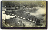[Sitka, Alaska, parade grounds showing firing salute in front of Governor's residence.  Russian...