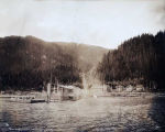 Salmon Creek. [Powerhouse and wharf along Gastineau Channel.]