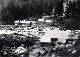 Upper dam construction camp,  Salmon Creek.