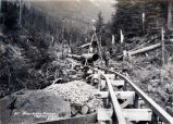 Salmon Creek. [Flume construction.]