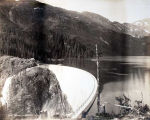 Salmon Creek Dam [with reservoir at right.]