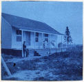 Front of Gompertz home on bluff above cannery at Kenai, 1899.