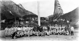 Flag-raising at opening of 1929 baseball season – Juneau – May 12th, 1929.