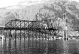 View of the Juneau-Douglas Bridge under construction.
