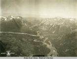Alaska Aerial Survey Expedition, 1929; Looking up Taku River.