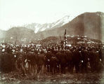 Decoration Day, ceremony at cemetary, Juneau, 1899.