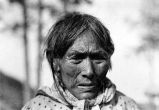 Close up of Old native woman.