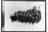 [Church service-Group portrait outside of Presbyterian Church (?).]