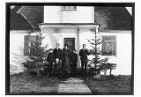 [Axelson family in front of the Mission House which belonged to the Swedish Covenant Church at...