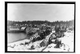 [View of cannery from hill.]