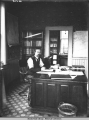 C.L. Andrews in office at Skagway, ca. 1900.