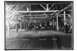 [Interior view of the cannery.]