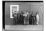 [Cannery crew outside of cannery.]