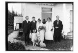 [Wedding party of Miss Johnson (school teacher) and Mr. Armstrong at the Covenant Mission house. ...