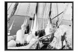 [Schooner Scandia covered with ice, at Yakutat, Jan. 21, 1916.]