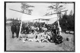 [Cannery crew, many of the Filipinos, who wrestled with the Yakutat men, ca. 1915 or 1916.]