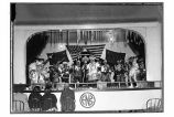 [Tlingit dancers performing in the ANB Hall.]