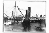 [A vessel of the Admiral Line, Pacific Steamship Co. at the dock.]