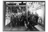 [The superintendent and engineers in the cannery.]