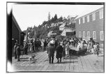 Salvation Army [A Salvation Army meeting on the dock.]  Yakutat, Alaska.