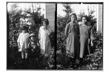 [(Left side) Portrait of three children. & (Right side) Possibly Helen Renner and Annie Sato...