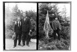 Yakutat, Alaska. [(Left side) Portrait of two unidentified men & (Right side) Portrait of one...