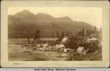 Indian Village at Jeauno (Juneau) Alaska, U.S., 1887.