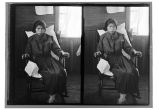 [Portrait of unidentified native woman sitting in a rocking chair.]