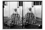 [An elderly woman with a ground squirrel blanket.]