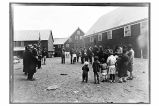 [A Salvation Army meeting near the cannery.]