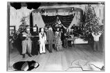 [Program for the Christmas party in ANB Hall, with children in costume.]