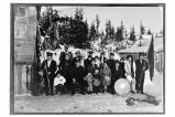 [Group portrait of Salvation Army group in the winter.]