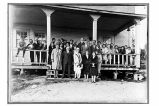[A farewell party for the teachers, Mr. and Mrs. Klinckley and child, who were leaving at the end...