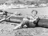 Margaret Bell on Gravina Island beach across Tongass Narrows from Ketchikan, Alaska.