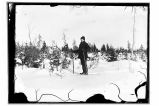 [Portrait of person on skis.]