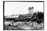 Y. & S. R.R. Co. 2; Yakutat & Southern Ry. 301, [Railroad depot; two water towers.]
