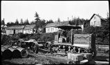 [A Holt Caterpillar tractor believed to have been used in the construction of the railroad.]