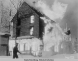 Douglas Lutheran Church destroyed by fire, 1937.
