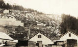 [Alaska Gastineau Mining Company Mill on hillside, showing trams and beach level buildings from...